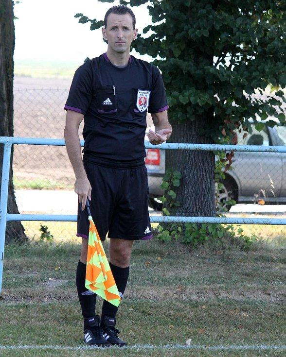 Z utkání fotbalistů Jiskry Domažlice s SK Benátky nad Jizerou.