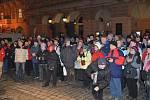 Zahájení zimního srazu turistů v Domažlicích.