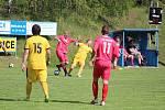 V sobotu v Únějovicích v přípravném zápase prohrál A-tým Slavoje Koloveč (v červeném) s SK Bolešiny 3:4.