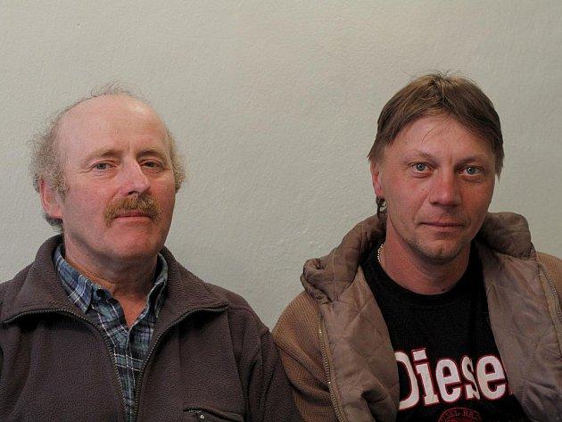 Zleva Jan Hašek a Josef Herian.