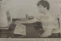Foto z první internetové kavárny na Domažlicku. Foto: archiv Deníku