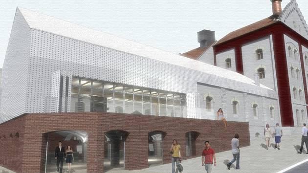 Současná podoba projektu přestavby domažlického pivovaru.