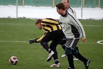 Z turnajového utkání Holýšova a Slavoje Koloveč B 1:6 (0:3).