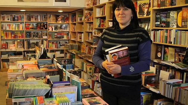 Lidmila Haasová, majitelka knihkupectví v Domažlicích.