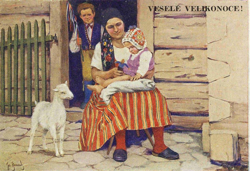 Velikonoční pohlednice.