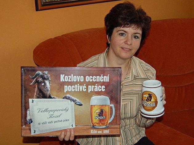 Oceněná švadlena Marie Kopecká z Luženic.