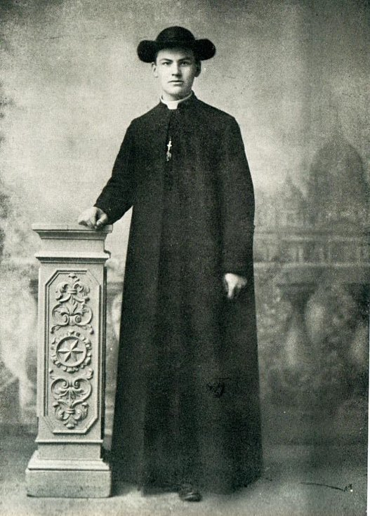 Antonín Bořek-Dohalský při studiu teologie v Římě.