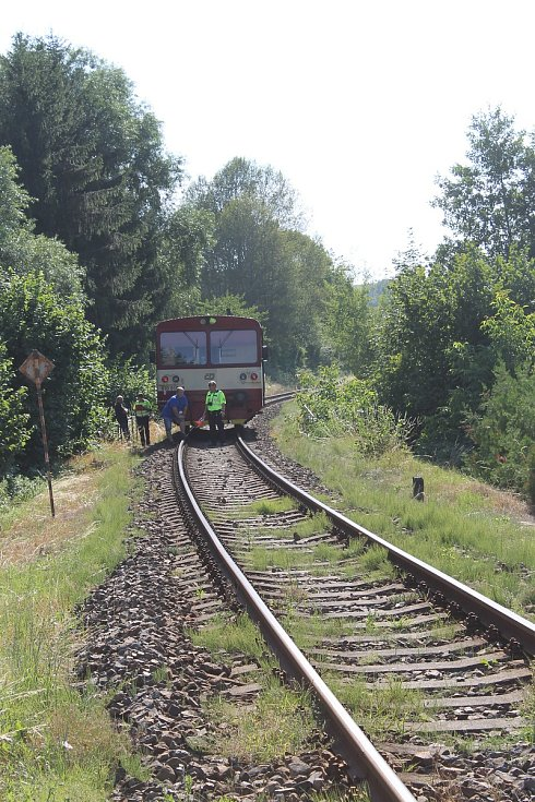 Střet s vlakem se obešel bez zranění.