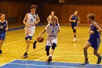 Ilustrační snímek z utkání mladých basketbalistů Domažlic.