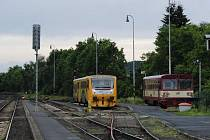 Domažlické vlakové nádraží. Ilustrační foto.
