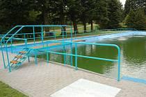 Rekonstruované koupaliště v Němčicích.