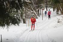 V neděli se v Caparticích uskutečnil lyžařský závod klasickou technikou - Výhledská 15.