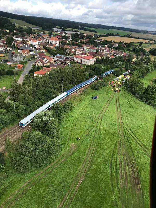 Železniční neštěstí na Domažlicku.