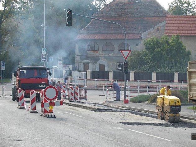 Benešova ulice v Domažlicích - září 2011.