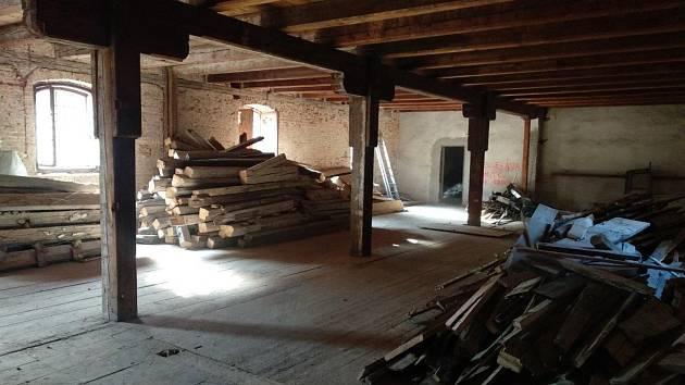 Z prací na rekonstrukci domažlického pivovaru.