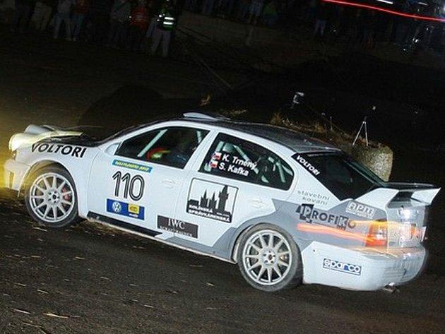Karel Trněný si jede pro druhé místo na Rally Legend 2012 v San Marinu.