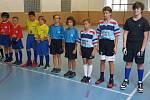 Dvojice SK Chodsko 1 ( Knopp Matyáš – Šmíd Josef, ve žlutých dresech) a dvojice SK Chodsko 2 (Knopp Jiří – Švec Vojtěch, v červených dresech).