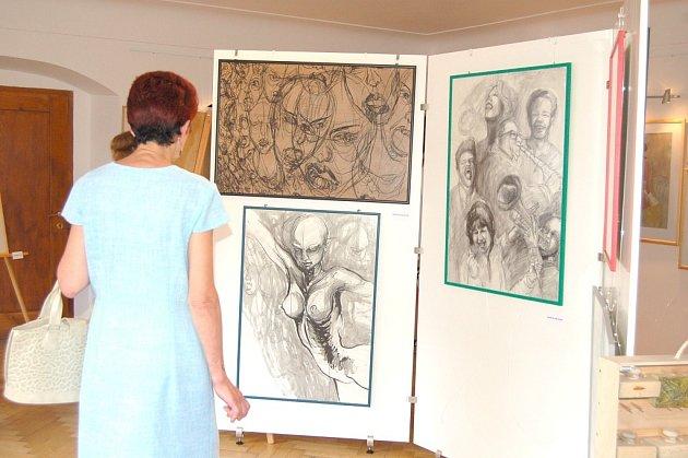 Vernisáž výstavy Jany Krausové a Patricie Císlerové
