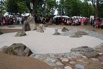 Otevření japonské Zen zahrady v poběžovickém zámeckém parku.