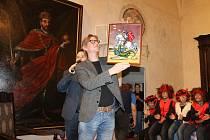 Podmalbu si odnesli celebrity v rámci filmového festivalu Juniorfest. Jiří Strach.