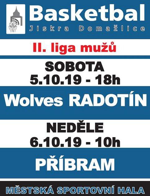 Basketbalistům Jiskry Domažlice začíná sezona II. ligy.