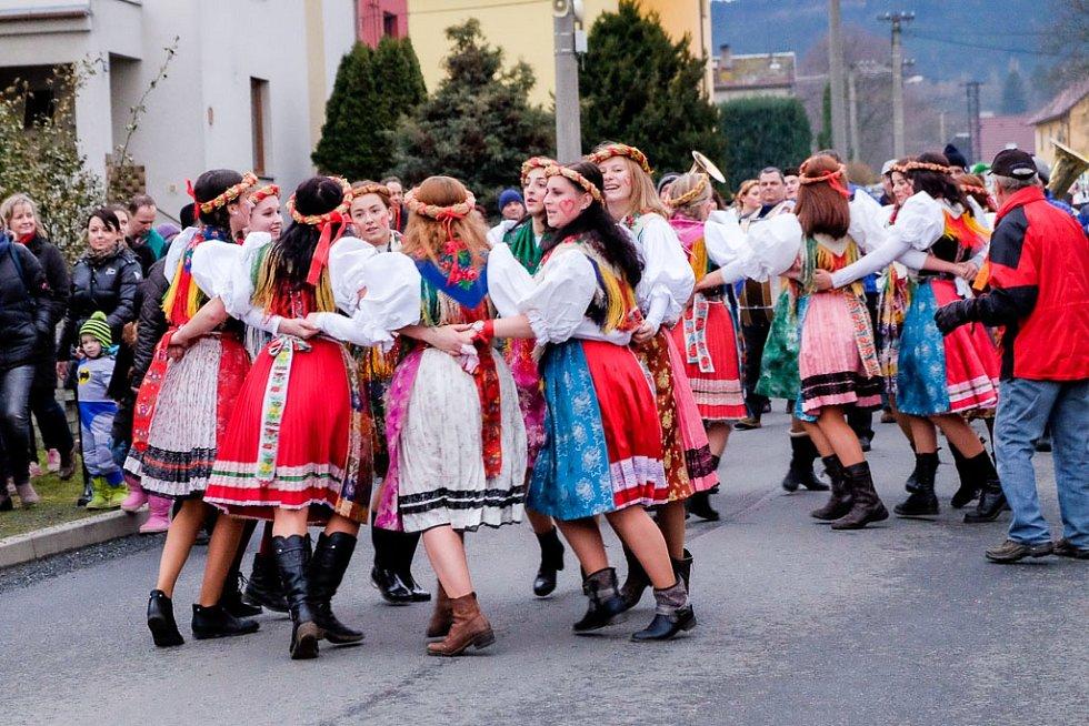 Závěr masopustu v Postřekově.