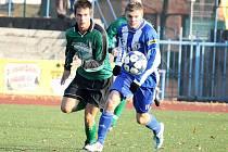 Z utkání fotbalitů Jiskra Domažlice a FC Chomutov.