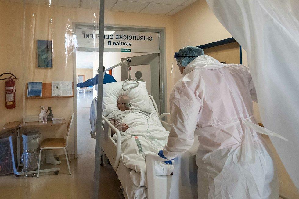 Covid oddělení domažlické nemocnice.
