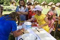 Letní tábor v Orlovicích.