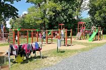 Nový sportovní areál u základní školy v Horšovském Týně.