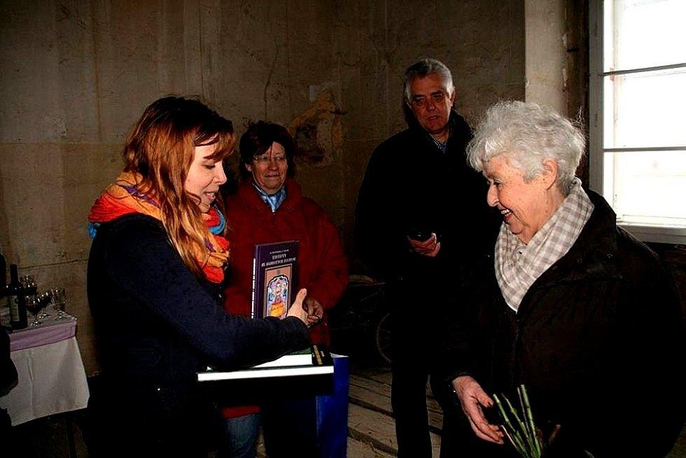 Z návštěvy Barbary Coundenhove-Kalergi v Poběžovicích.