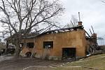 Následky požáru v Hradišti