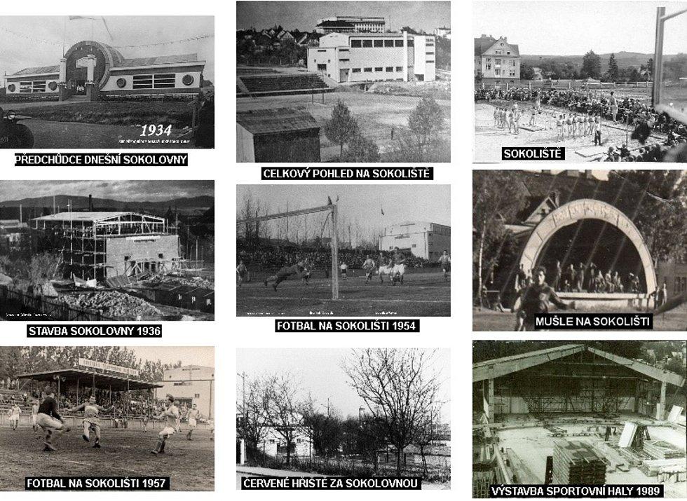 Zachycená historie sportovního stadionu Sokoliště v Domažlicích.