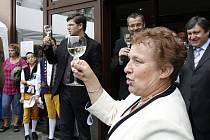 Otevření domova pro seniory v Baldovské ulici v Domažlicích.