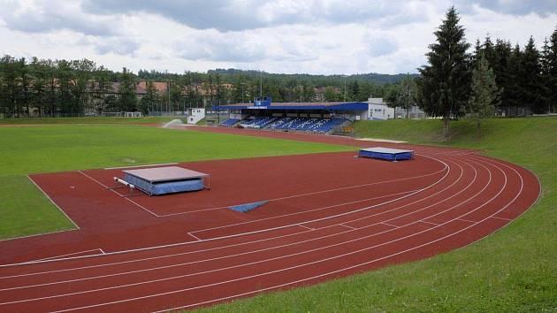 Městský stadion Střelnice v Domažlicích.