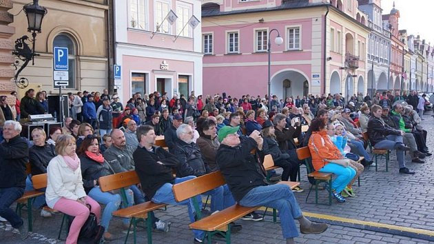 Koncert Big bandu plzeňské konzervatoře v Domažlicích.