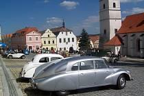 Tatraplan na horšovskotýnském náměstí.
