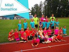 Výprava mladých atletů oddílu Mílaři Domažlice.
