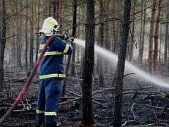 Požár lesa. Ilustrační foto.