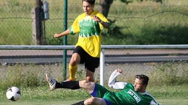 Z páteční předehrávky posledního kola okresního přeboru mezi rezervou FC Dynamo H. Týn a Sokolem Kout A.