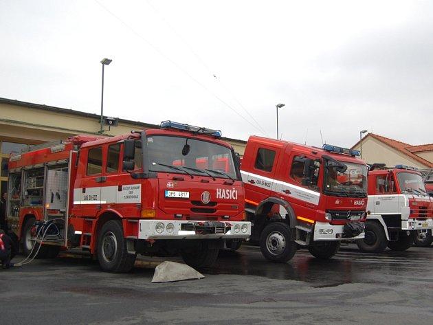 Technika domažlických profesionálních hasičů. Ilustrační foto