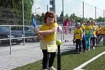 Turnaj mateřských školek v blastballu v Domažlicích.
