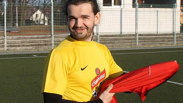 Fotbalista Michal Tesař.