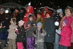 Rozsvícení vánočního stromu v Kolovči.
