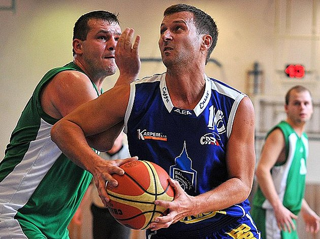 Z utkání basketbalistů Jiskry Domažlice B.