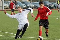 Z utkání fotbalistů FC Dynamo Horšovský Týn a SKP Rapid Sport Plzeň.