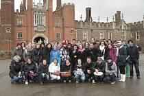 Domažličtí studenti v Anglii.