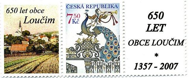 Loučimská výroční známka