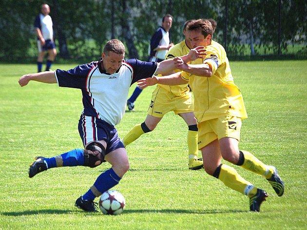 Z utkání rezervy Spartaku Klenčí se Sokolem Újezd.