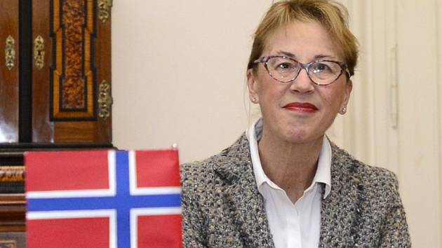 Norská velvyslankyně v ČR Siri Ellen Sletnerová.